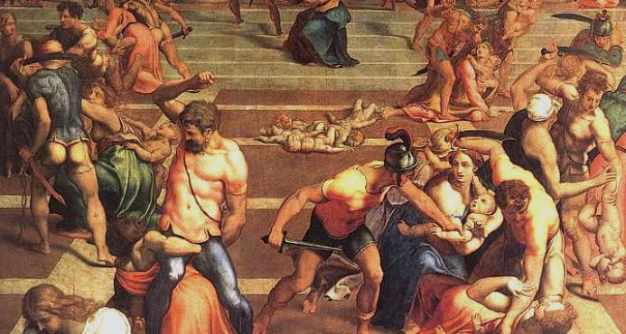 La Masacre de los Santos Inocentes, pintada por Daniele da Volterra, pintor y escultor